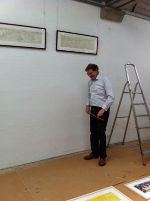 The hanging of the exhibition